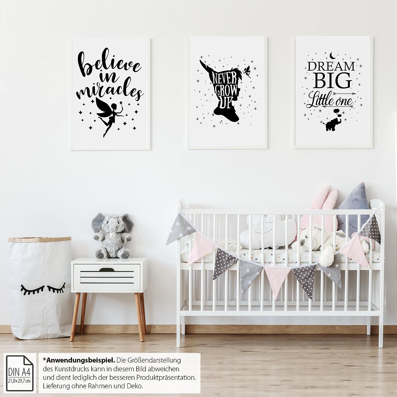 Kunstdruck Din A4 Print Elefant Dream Big Ohne Rahmen Deko Kinder