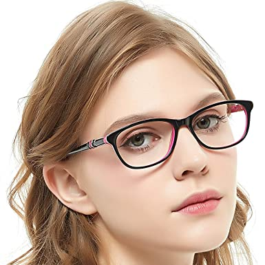 b9b101834fe2 OCCI CHIARI Stylish Square Non-Prescription Glasses Frame Clear Lense Eyeglasses  Women