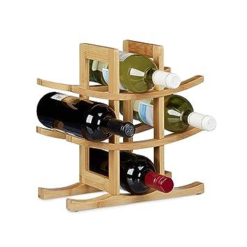Weinregal Bambus 6 Flaschen Weinflaschenhalter X-Form Flaschenhalter Weinständer