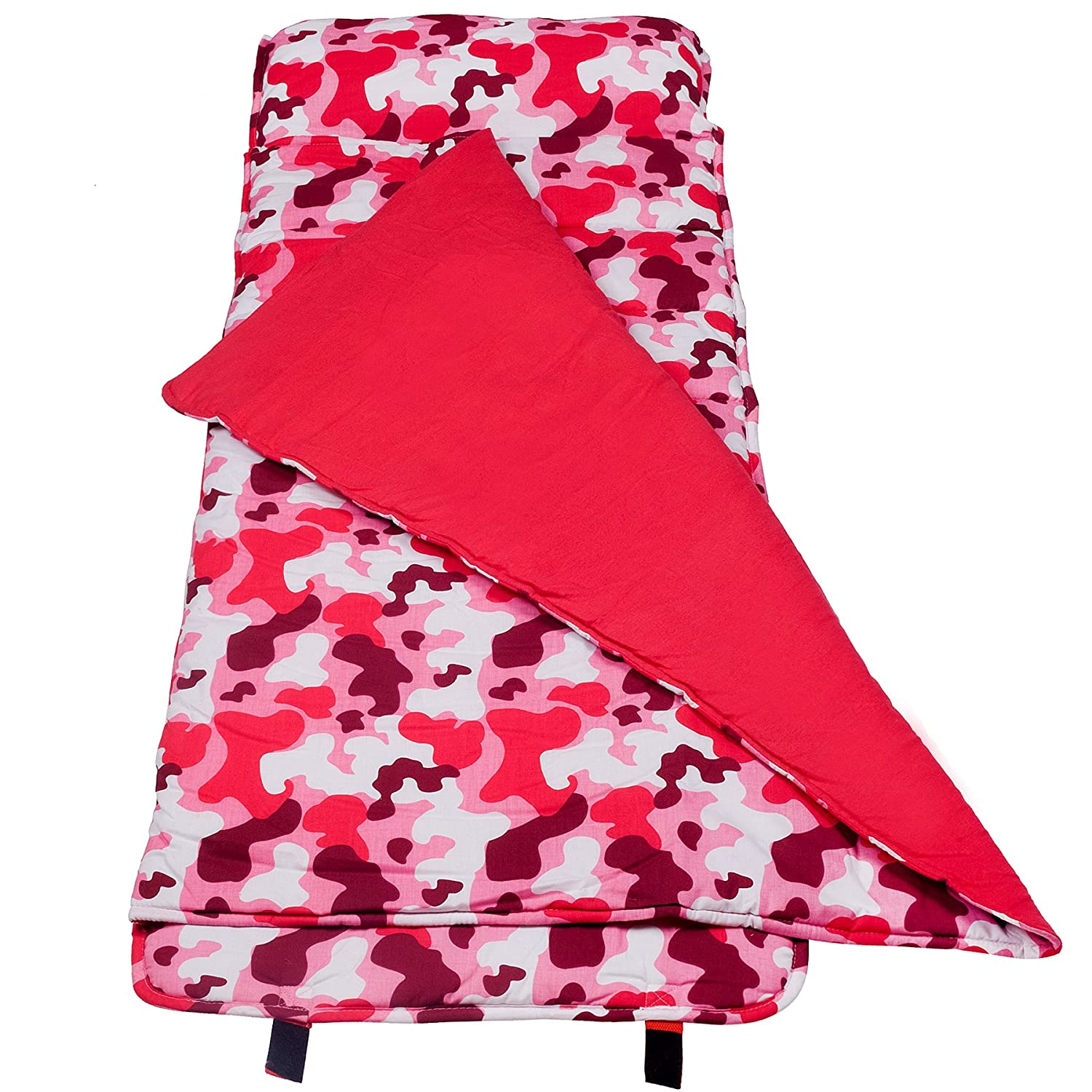Perfect for Daycare and Preschool or Napping On-The-Go Features Built-in Blanket and Pillow Olive Kids Design Wildkin Original Nap Mat Unicorn
