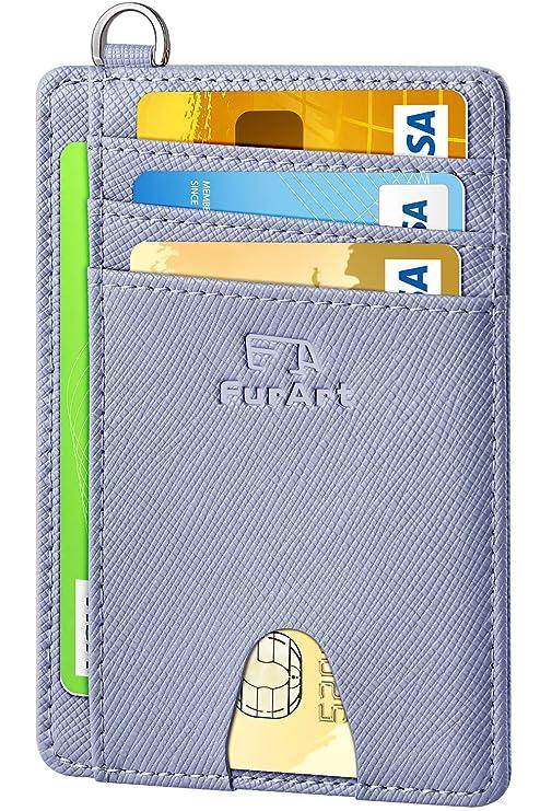 Front Pocket Wallets FurArt Slim Minimalist Wallet Credit Card RFID Blocking