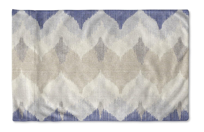 - BOHEMIA Collection Size: 40X20X1 - KAVKA Designs Aria Pillow Case, MGTAVC2037PC42 Blue//Ivory//Tan