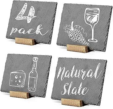 Amazon.com: Letreros de pizarra de mesa pequeños, dos ...