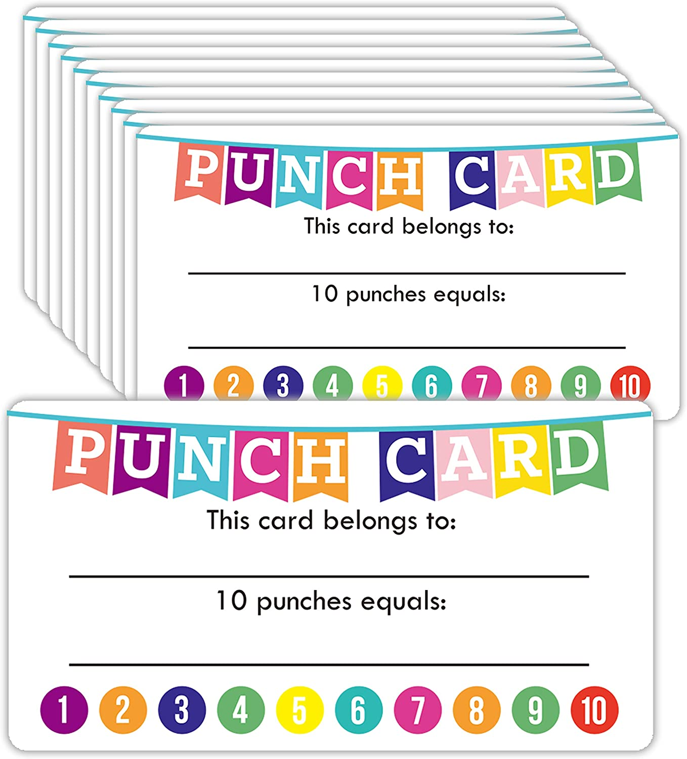 for Teachers or Business Best Behavior Chart for Classroom 200 Pack Punch Cards for Classroom or Business Student Awards Loyalty Cards