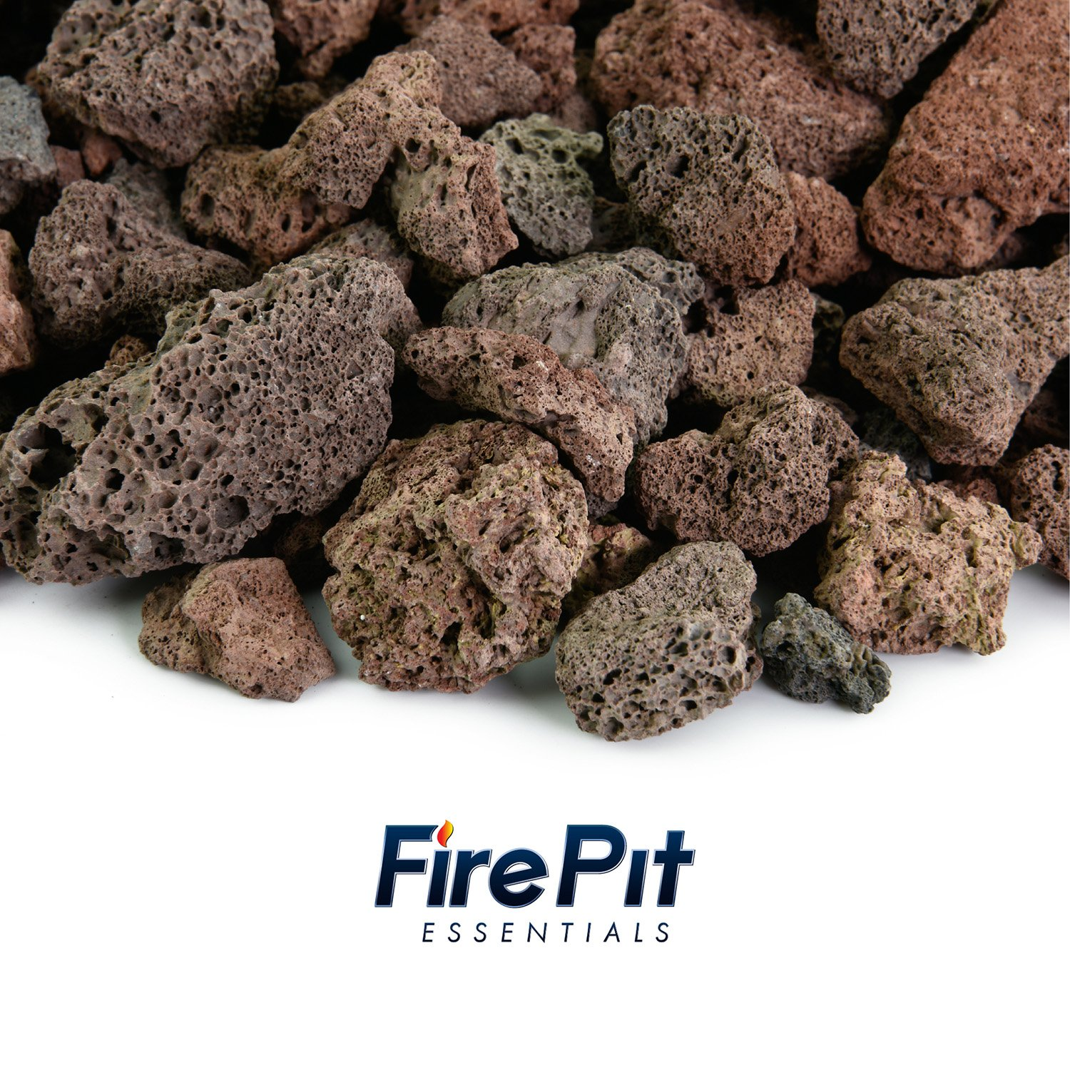 Red 3/4 Inch Lava Rock | Fireproof and Heatproof Volcanic Lava Rock, Perfect for Fire Pits, Fireplaces, BBQs and more. Indoor and Outdoor use - Natural Stones | 10 Pounds by Fire Pit Essentials