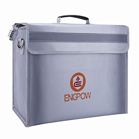 Amazon.com: ENGPOW - Bolsa ignífuga para documentos, con ...