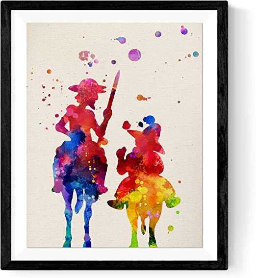Art Hd Print Canvas Don Quixote/'s Painting Wall Decoration Modern Abstract 16x20