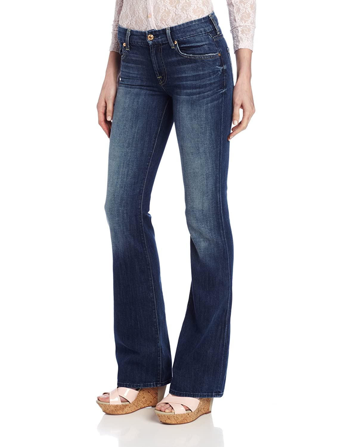 7 For All Mankind Women's Kimmie Bootcut Jean in Authentic Bright Blue