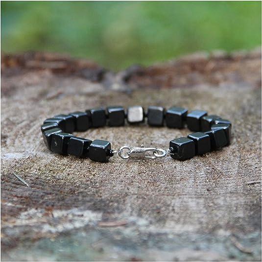 Shungite Bead String Bracelet  Everyday Minimalist Bracelet for EMF Protection  Bracelet Chakra Balancing Healing Karelian Heritage SB70