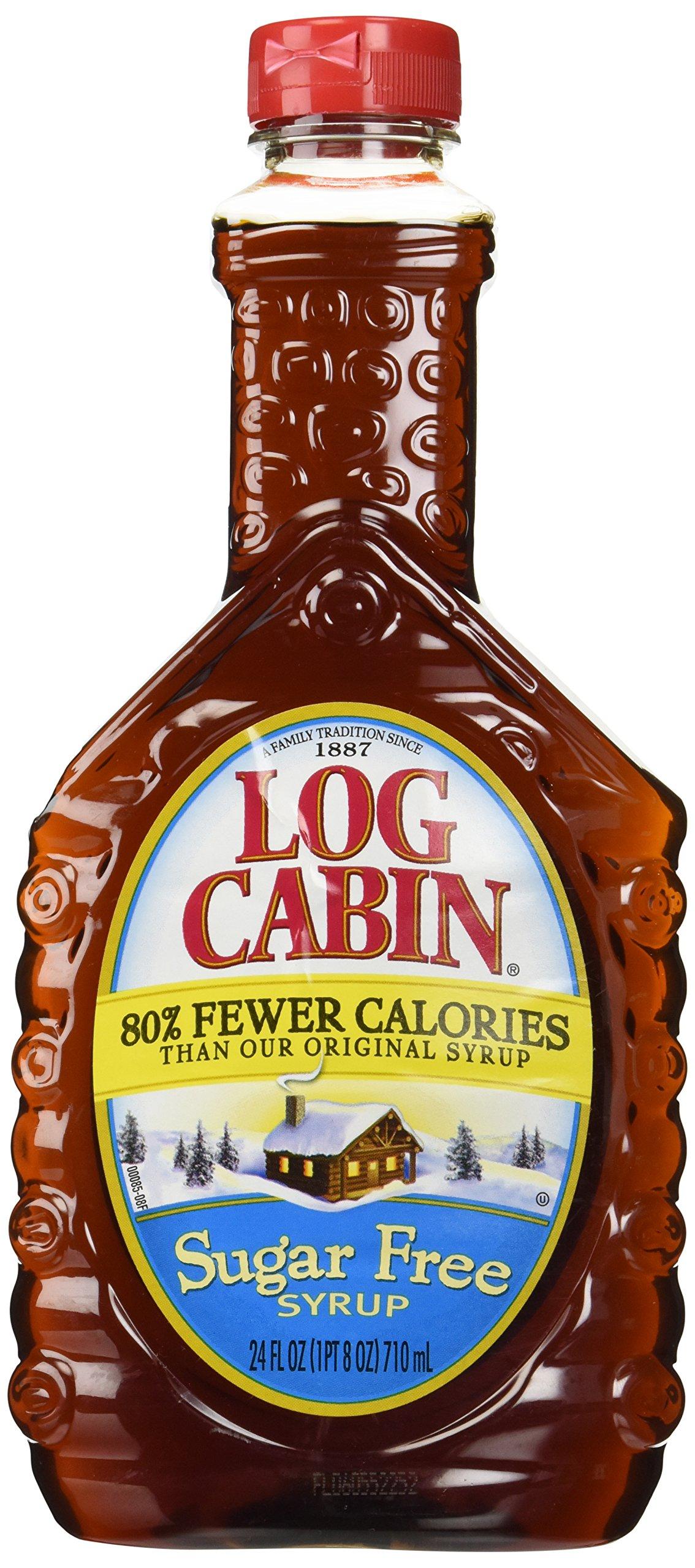 Log Cabin Sugar Free Syrup for Pancakes and Waffles, 24 oz.