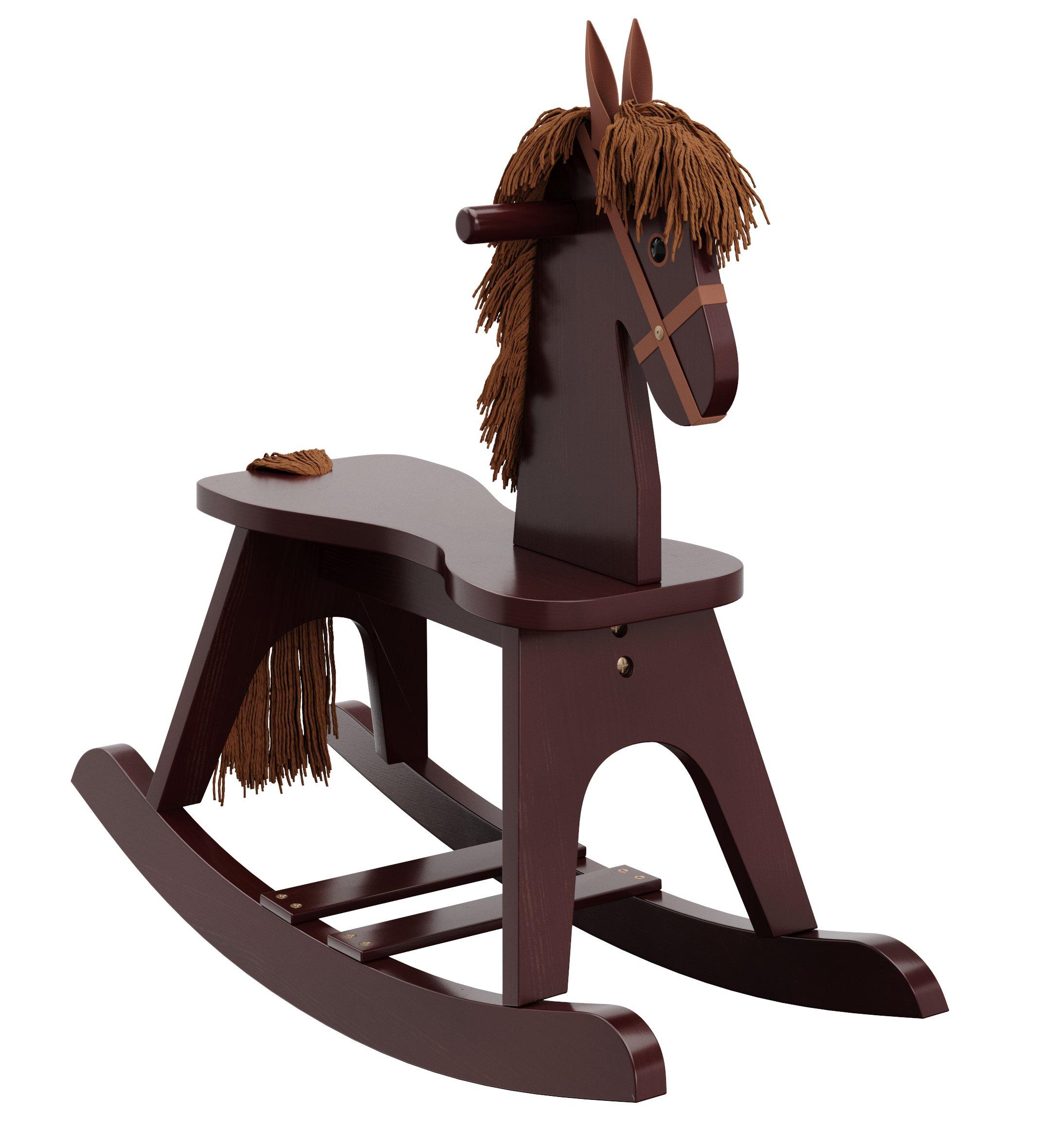Storkcraft Wooden Rocking Horse, Espresso