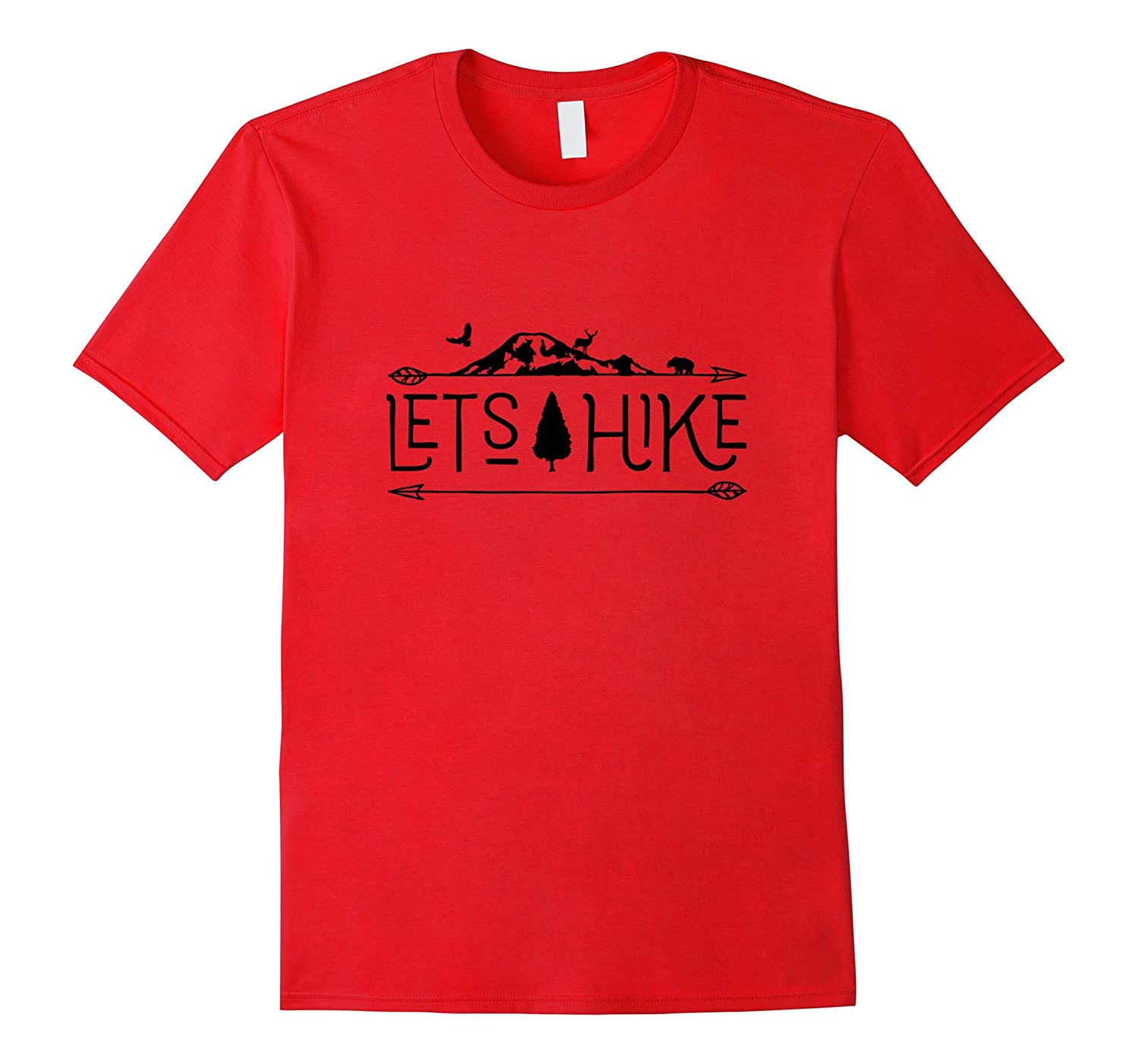 Lets Hike Nature Outdoor and adventure tshirt-Vaci