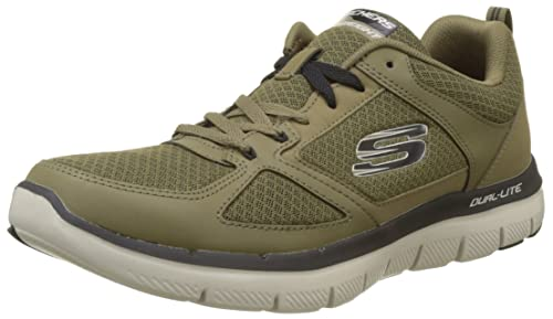 c0e23c48c347f Skechers Men 52189 Trainers, Green (Olive/Black), 5.5 UK ( 39