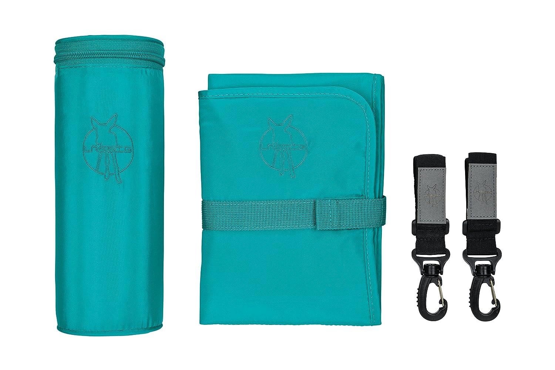 Aqua 3 Piece Set Accessory Set For Luxury Lassig Pram Baby Changing Bag