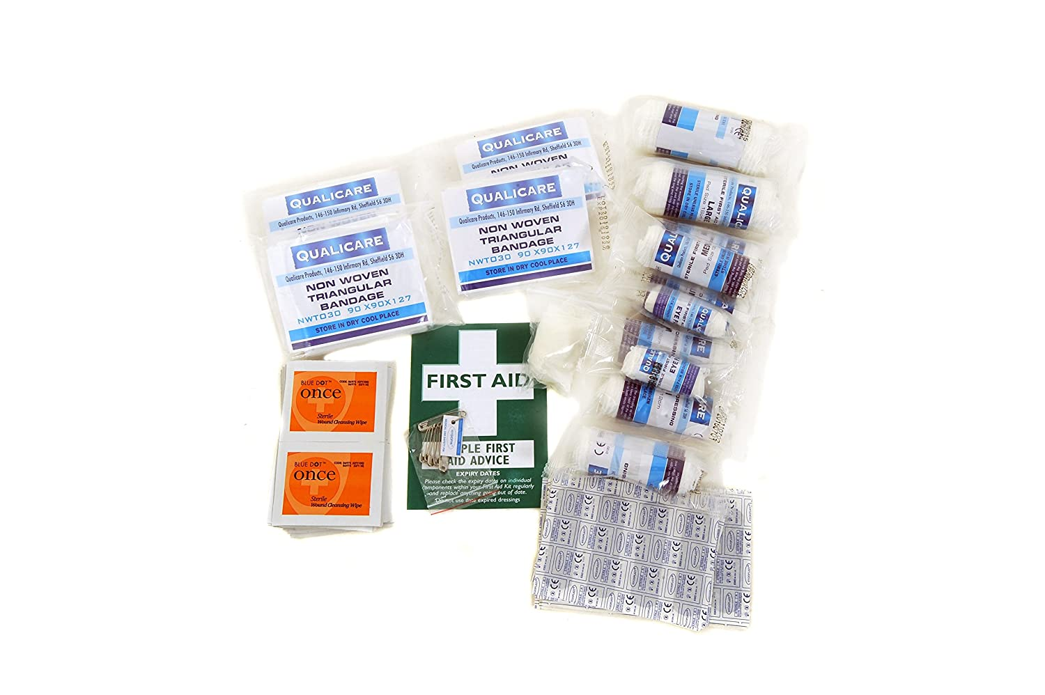 QF1210R Qualicare First Aid Catering Kit HSE 1-10 person Refill Nightingale Nursing Supplies