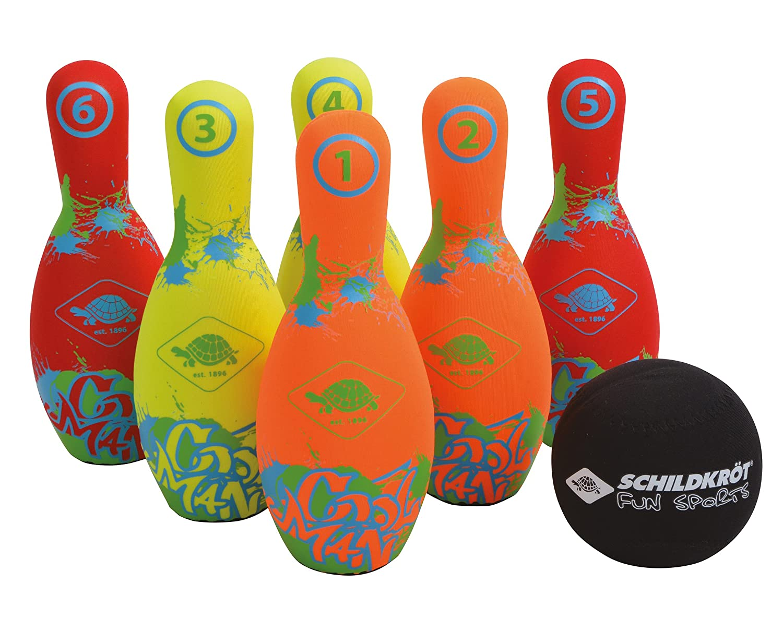 Schildkroet Funsports 970227 Set de Bowling, Unisex niñ os, Talla Ú nica Unisex niños Talla Única