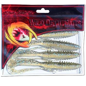 Angel-Berger Wild Devil Baits Snake Shad V-Tail Gummifisch