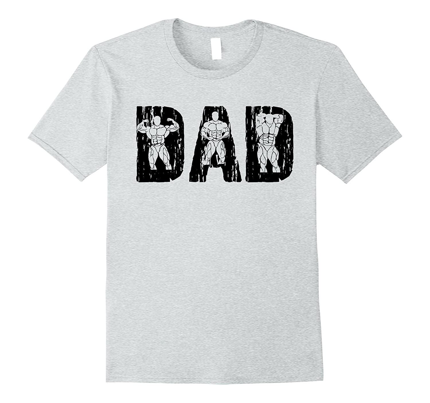 Father's Day Bodybuilding Dad T-Shirt-TH