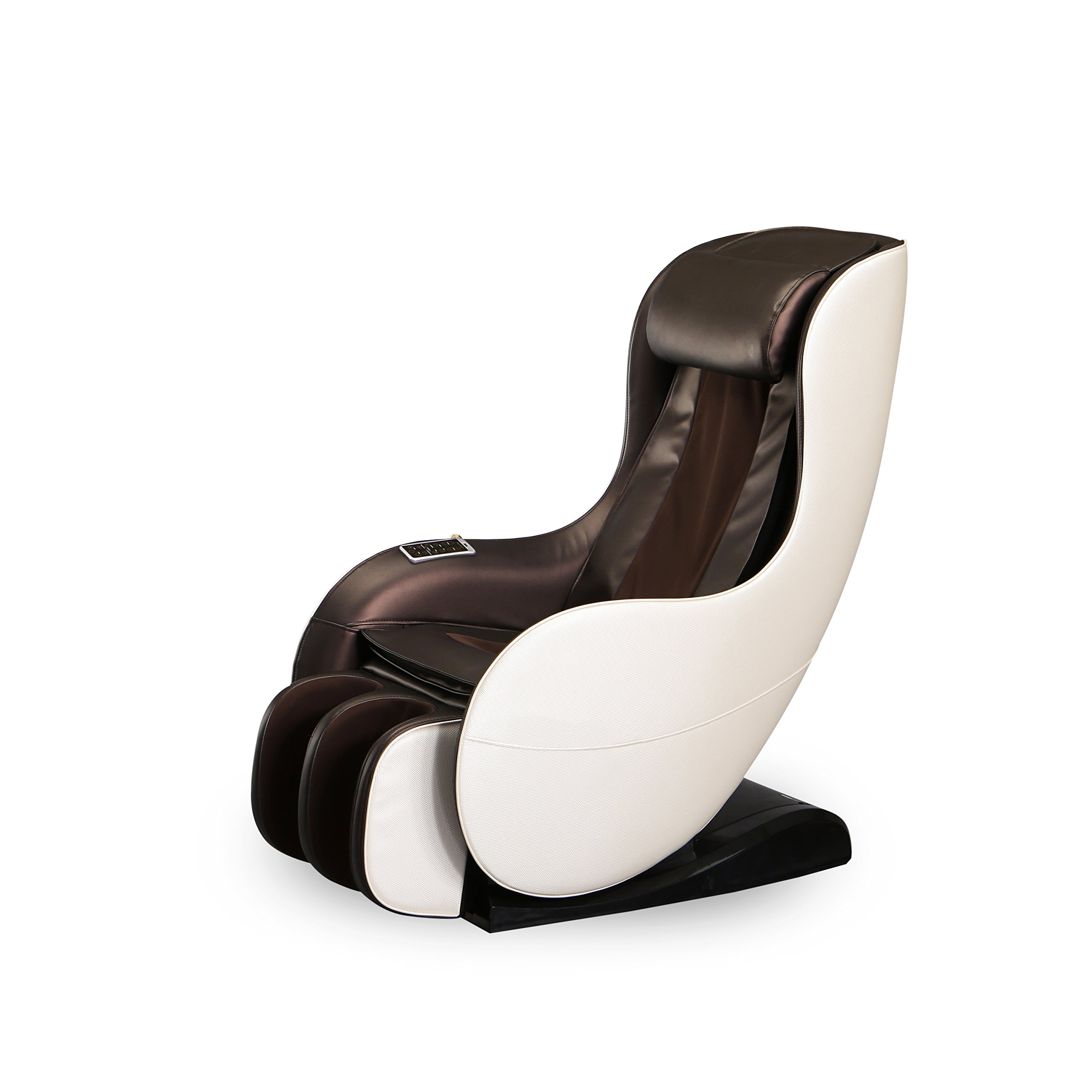 Zero Gravity Full Body Electric Shiatsu Massage Chair Recliner with Heat Therapy Warm Massaging Rollers Air Pressure Massage L-Track Stretch Wireless Bluetooth Speaker USB Charger,Cream