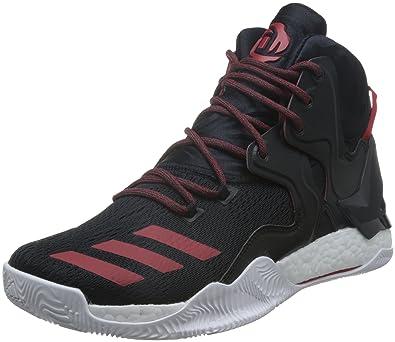 huge discount 114a2 8f568 adidas Herren D Rose 7 Basketballschuhe, Black (NegbasScarletNegbas),