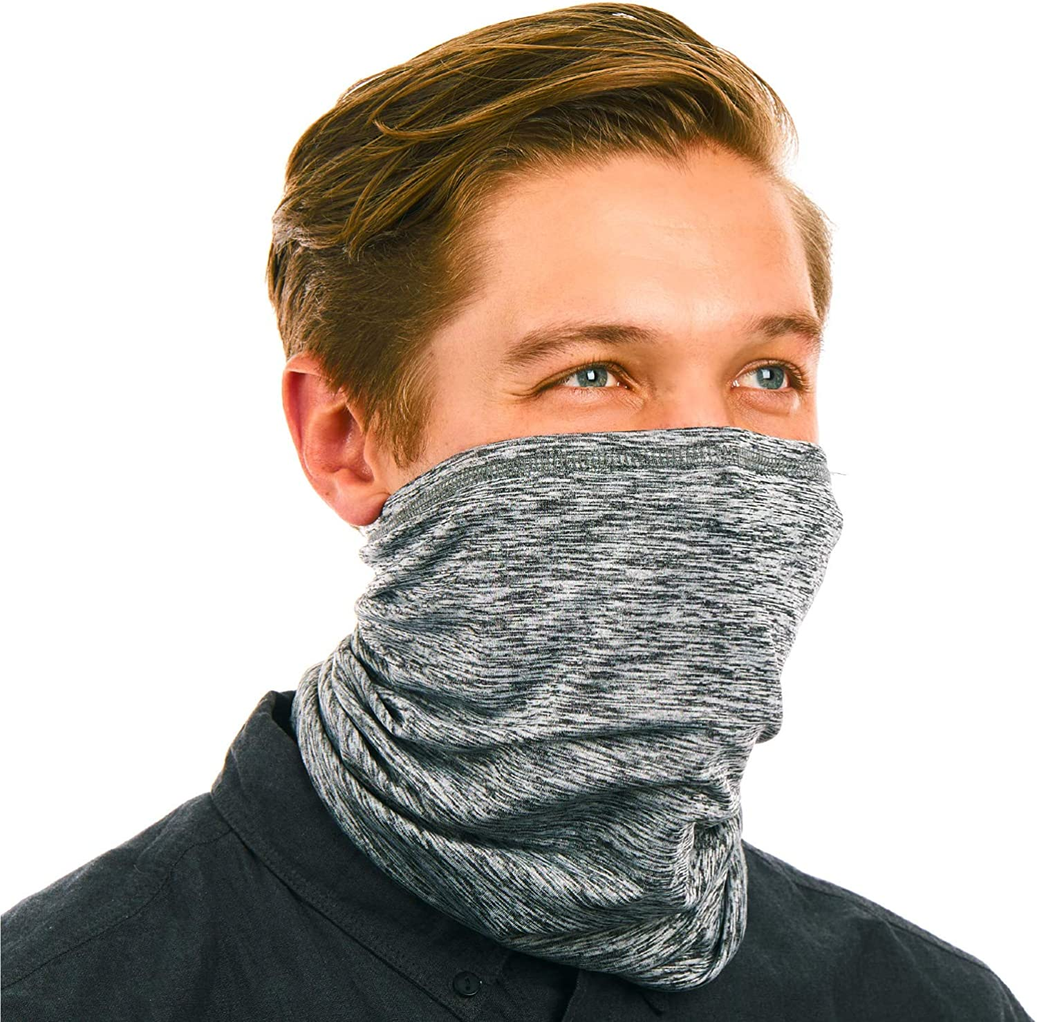 Respi-Gaiter, Cooling Washable Neck Gaiter Face Cover with 2 Removable Face Mask Filters and UV Protection - Cools When Wet