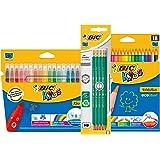 BIC Kit Rentrée des Classes - Pack de Coloriage de 18 Feutres/18 Crayons de Couleur/8 Crayons Graphite HB