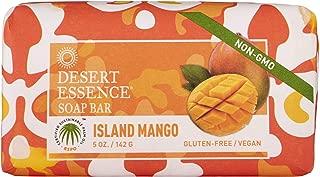 product image for Desert Essence Island Mango Soap Bar - 5 Oz - Cleanses, Nourishes, Hydrates & Softens Skin - Refreshing Scent - Mango Seed Butter - Jojoba & Palm Oil - Aloe Vera