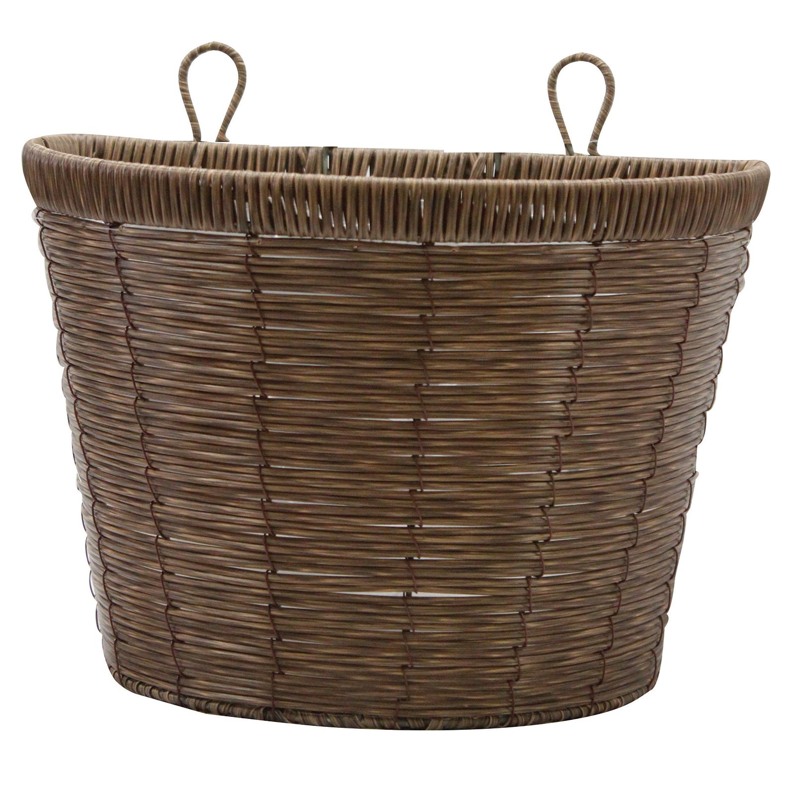 Gardman R258 Faux Natural Brown Rattan Wall Basket, 11'' x 7.7'' x 8''