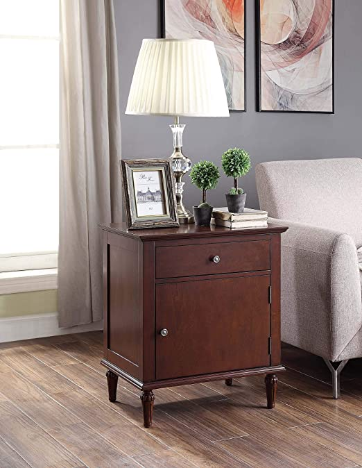 Amazon Com Morgan Nightstand With Charging Station In Espresso