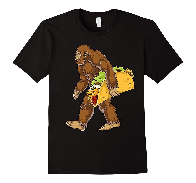 ce664e64 Bigfoot Sasquatch Carrying Taco T shirt Funny Camping Gifts-ANZ ...