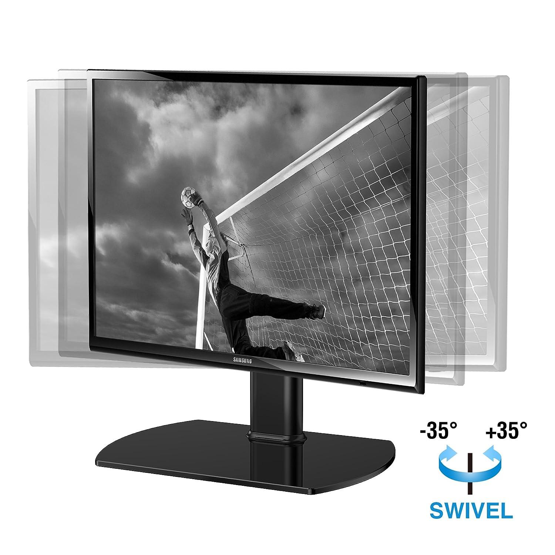 Amazon Com Fitueyes Tt104001gb Universal Tv Stand Base Swivel