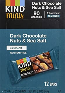 product image for KIND Bar Minis, Dark Chocolate Nuts & Sea Salt, Gluten Free, 100 Calories, Low Sugar, 72 Count