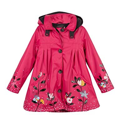 6c9a2eb5dc809 Amazon.com: Catimini My Little Ma-de-moi-Zelle Rouge Floral Raincoat ...