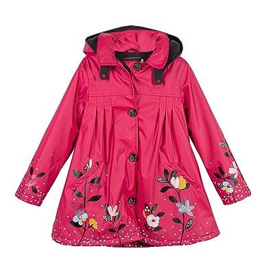 4d43be0f40ec8 Catimini Gomme Floral, Manteau Fille, Rouge (Pivoine), 5 Ans (Taille ...