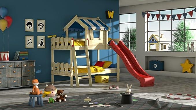Etagenbett Wickey Crazy Trunky : Wickey etagenbett crazy circus kinderbett hochbett mit rutsche dach