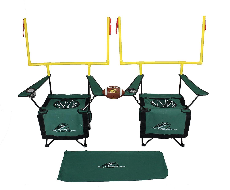 qb54 – Footballの完全なゲームに組み込まれ2 Folding Chairs B075WX2QW8 グリーン グリーン