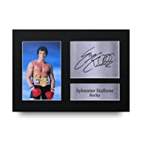 Sylvester Stallone unterzeichnet A4gedrucktem Autogramm Rocky Print Foto Bild Display–tolle Geschenkidee