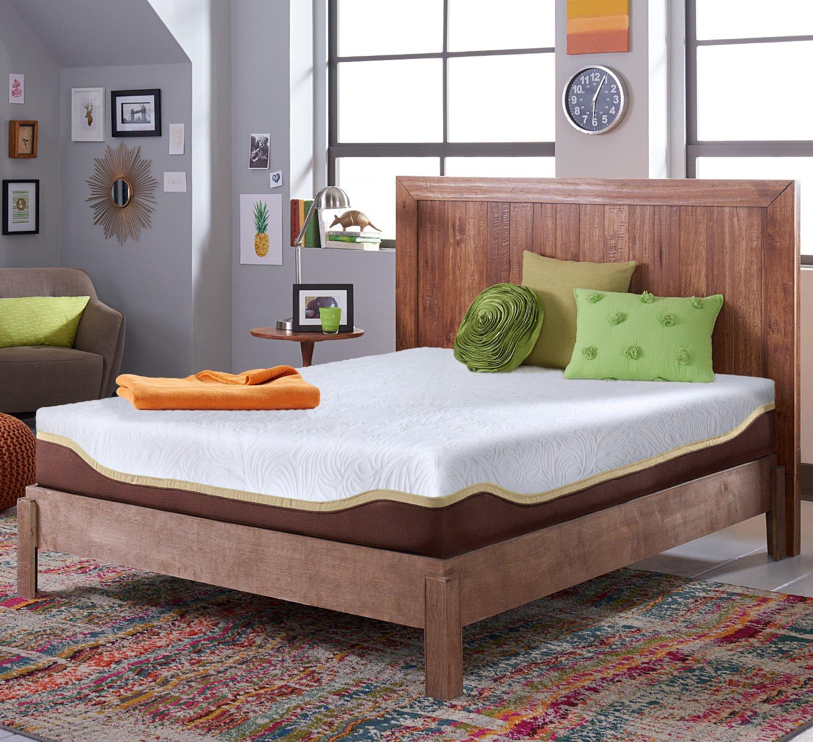 Live and Sleep Elite - Full XL Cooling Gel Memory Foam Mattress in a Box - Bonus Memory Foam Pillow - Certipur Certified Bed in a Box - Full Extra Long Size by Live and Sleep
