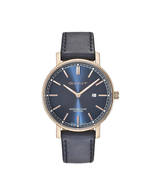 GANT TIME Herren-Armbanduhr Analog Quarz Leder GT006007