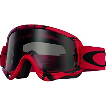 Oakley O-Frame MX Intimidator Goggles (Red/Black Frame/Dark Grey Lens)