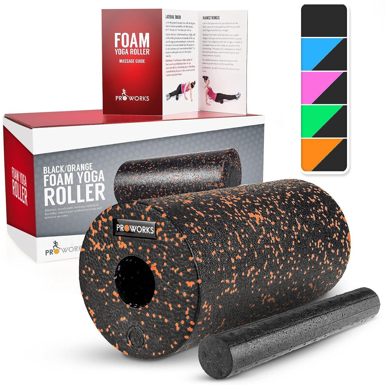 Massagerolle gegen Muskelschmerzen /& Verspannungen Booklet zur Triggerpunkt Selbstmassage Proworks Faszienrolle aus Schaumstoff inkl Foam Roller f/ür Yoga /& Pilates