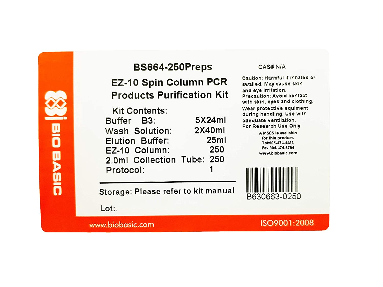 Amazon.com: EZ-10 Spin Columna PCR Productos Purification ...