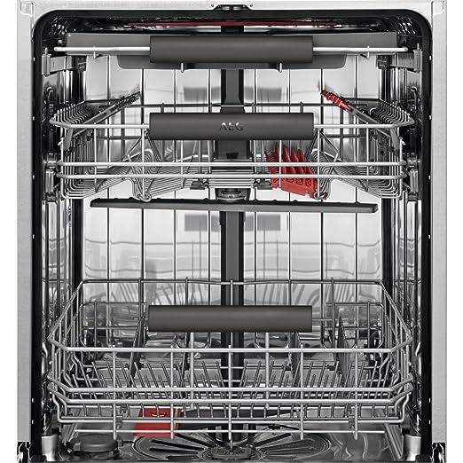AEG FSE63700P Totalmente integrado 15cubiertos A+++ lavavajilla - Lavavajillas (Totalmente integrado, White,Not applicable, Full size (60 cm), Plata, ...