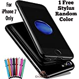 "DORRON Apple iPhone 7 (4.7"") Jet Black - New Shining Ultra Thin Soft TPU Back Case Cover For Apple iPhone7 (4.7"") - Jet Black (EB-834Q-YO0P) (EB-834Q-YO0P)"