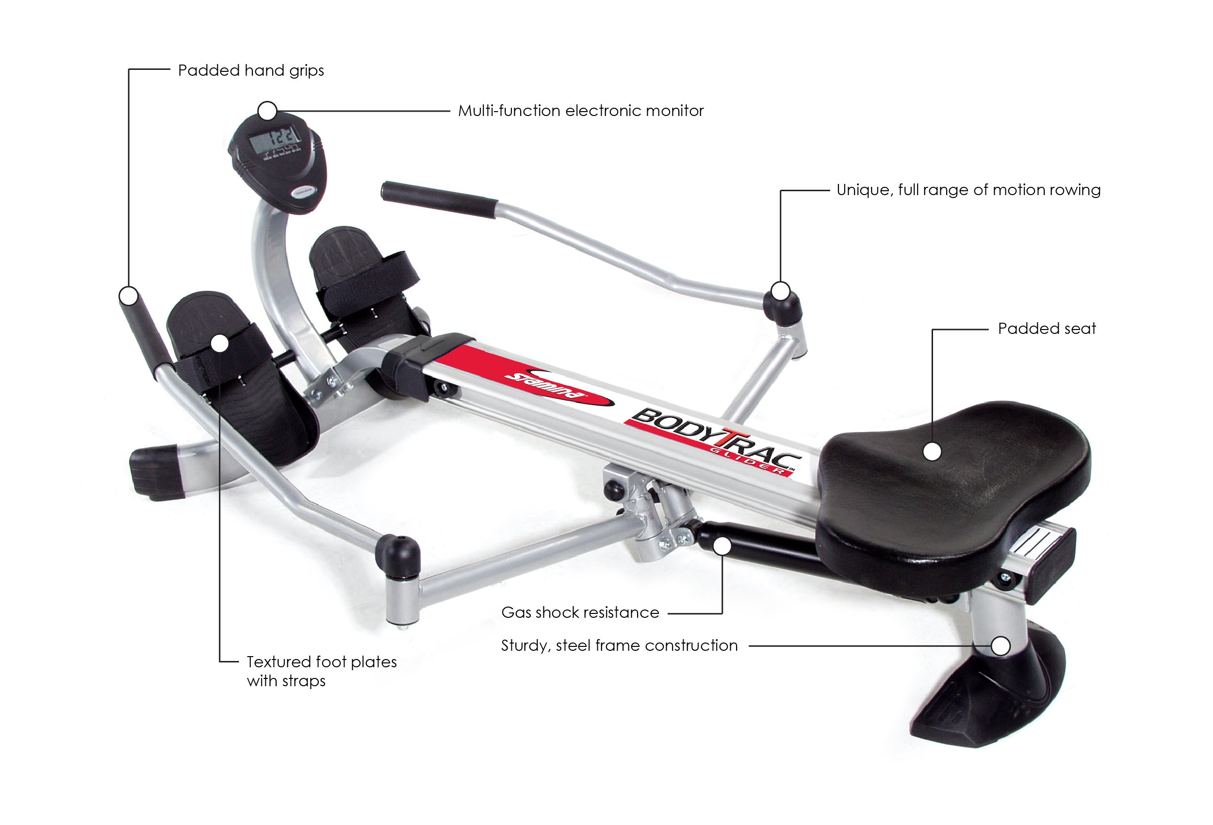 Stamina Body Trac Glider 1050 Rowing Machine by Stamina (Image #2)