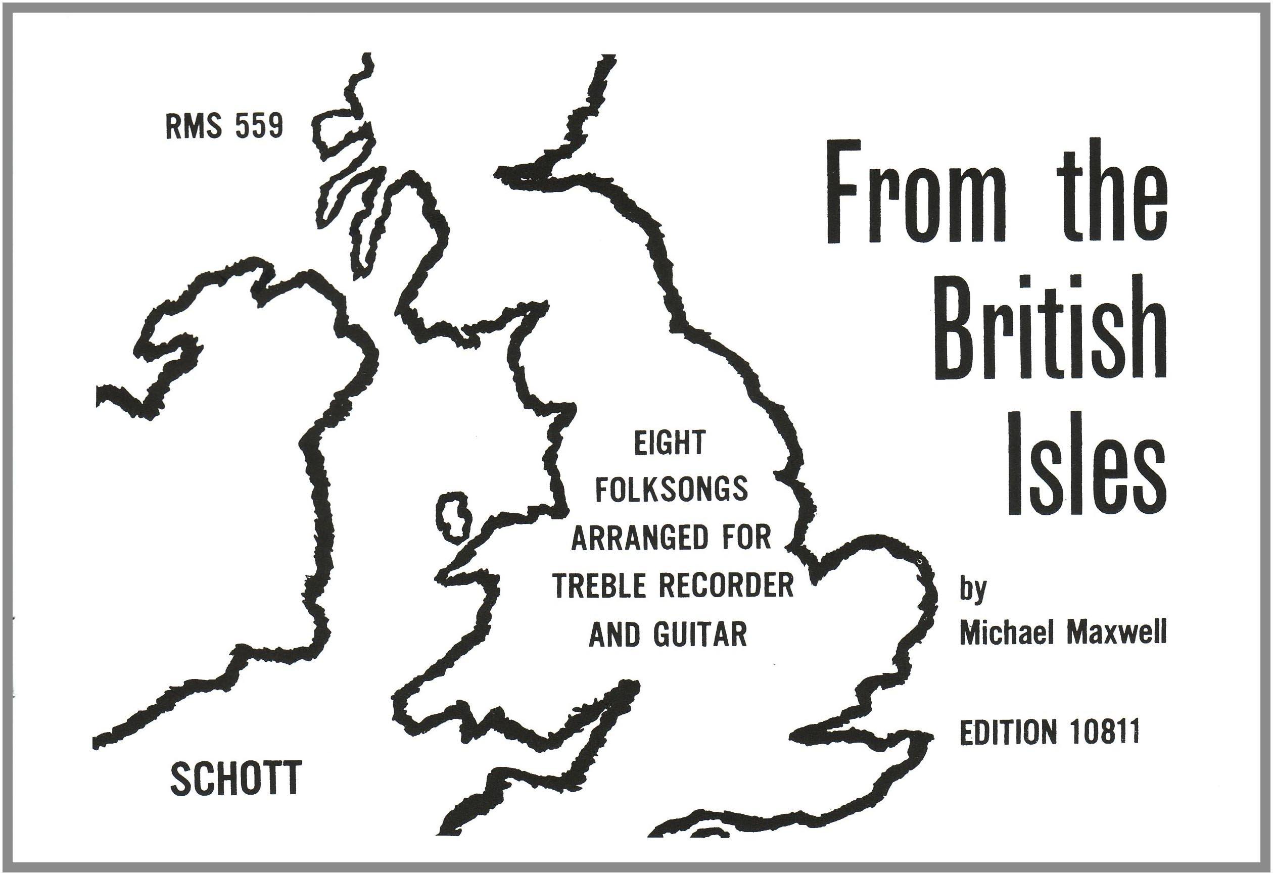 From the British Isles: 8 Folksongs. Alt-Blockflöte und Gitarre. Spielpartitur.