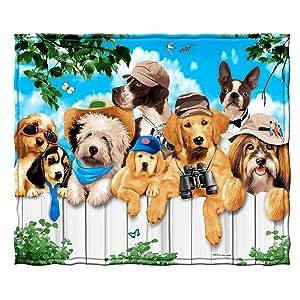 Dawhud Direct Dogs Outdoor Guys Fleece Throw Blanket