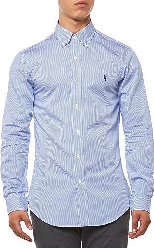 Polo Ralph Lauren LS Slim FIT BD Camisa Casual, Multicolor (Blue/White Hai G4AVP), M para Hombre: Amazon.es: Ropa y accesorios