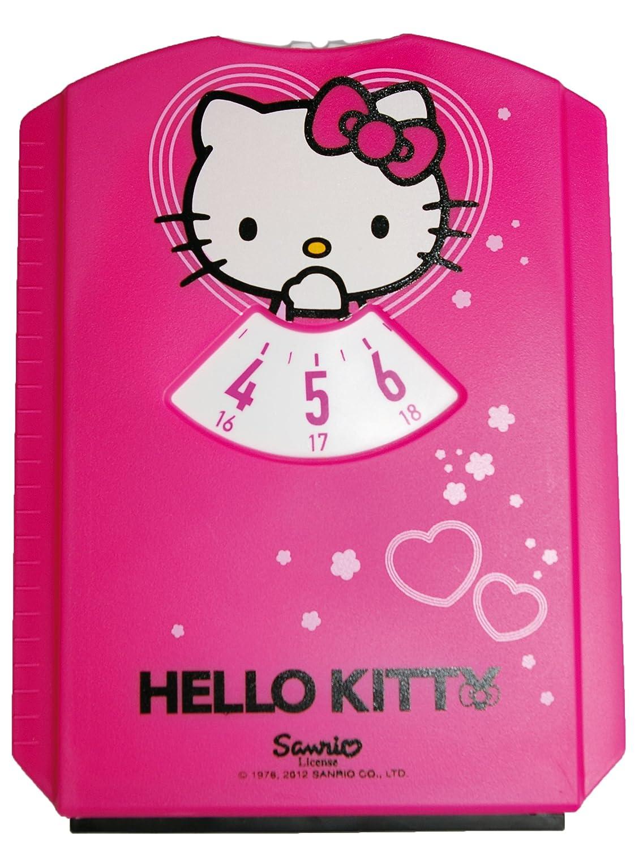 Hello Kitty HK-INN-600 Parkscheibe mit Einkaufswagen-Chips HITS4KIDS