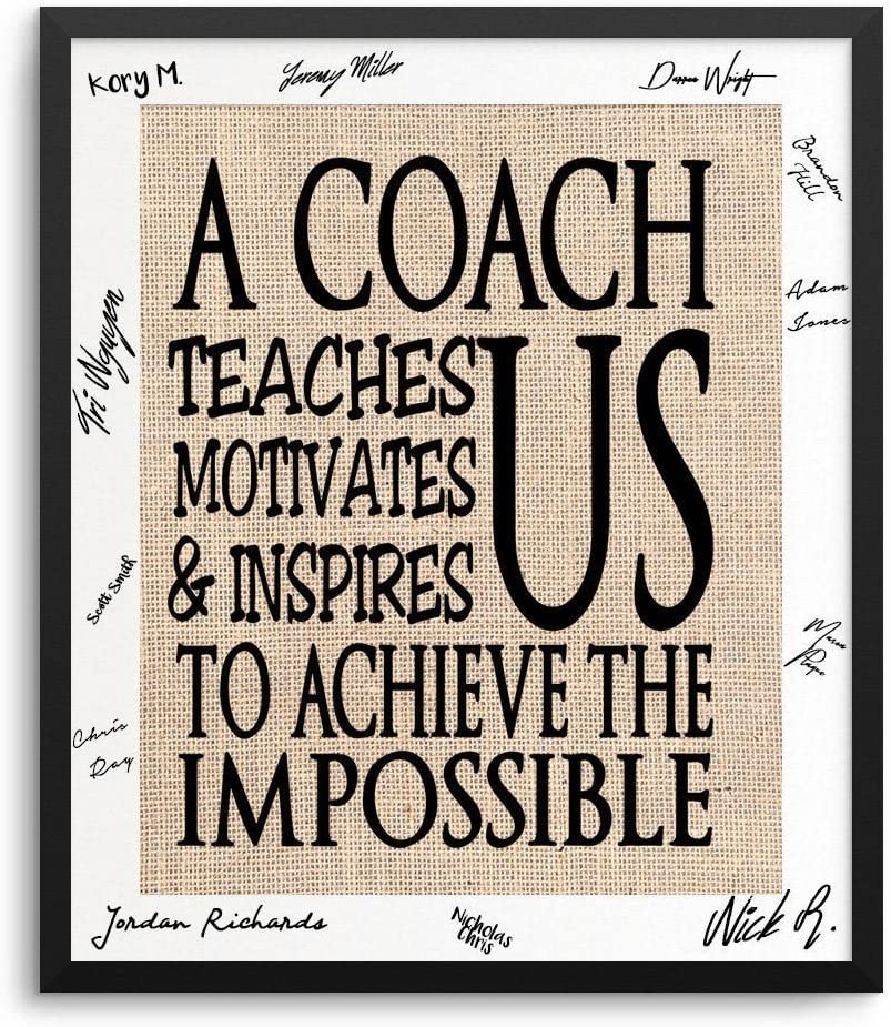 Coach Gift Ideas Basketball Coach Gift Soccer Coach Gift Tennis Volleyball Baseball Football Hockey Customized For Any Sport Frame Not Included Amazon Ca Home Kitchen